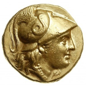 stater ok. 310-297 pne, mennica Abydus?, Aw: Głowa Aten...