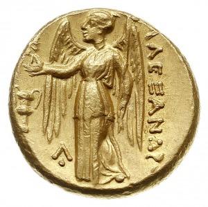 stater ok. 330-320 pne, Aw: Głowa Ateny w prawo, Rw: Ni...