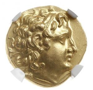 stater, mennica Byzantium, Aw: Głowa Aleksandra Wielkie...