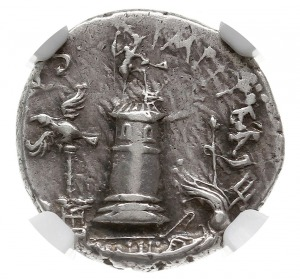 denar 40-39 pne, mennica na Sycylii, Aw: Galera ze stat...