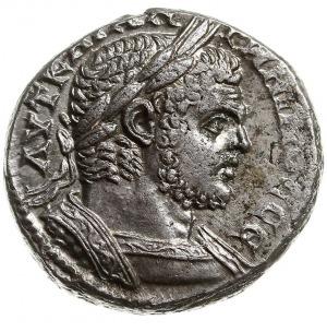 tetradrachma 215-217, mennica Tyr, Aw: Popiersie cesarz...