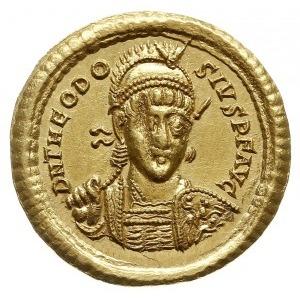 solidus 408-420, Konstantynopol, Aw: Popiersie cesarza ...