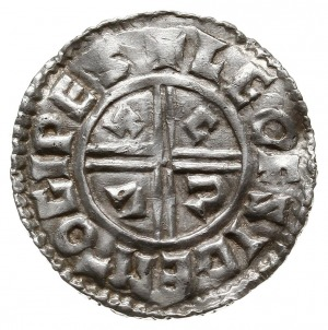 denar typu crux 991-997, mennica Ipswich, mincerz Leofs...