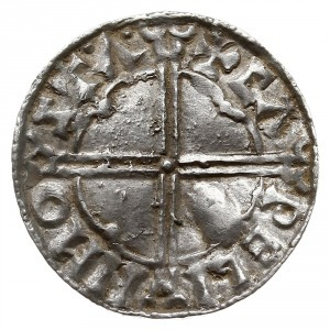 denar typu quatrefoil z lat 1018-1024, mennica Stamford...