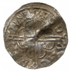 denar typu quatrefoil z lat 1018-1024, mennica Wareham,...