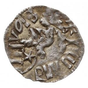 dinar, Aw: Władca z berłem i ukrzyżowanym globem na wpr...