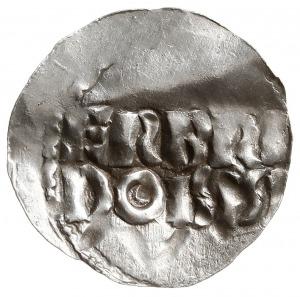 denar, Aw: Napis poziomy ERBRI / DOISIS, Rw: Krzyż, wok...
