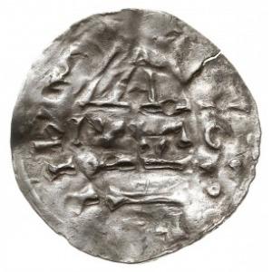 denar 985-995, mincerz Mauro (MAO), Aw: Dach kościoła, ...