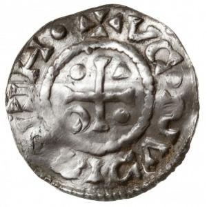denar 995-1002, mincerz Viga (WICL), Aw: Dach kościoła,...