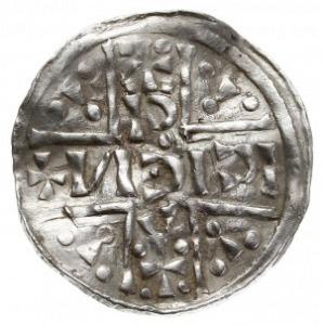 denar 1018-1026, mincerz Ag (CCCIIO), Aw: Dach kościoła...