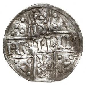 denar 1018-1026, mincerz Oc (OCH), Aw: Dach kościoła, R...