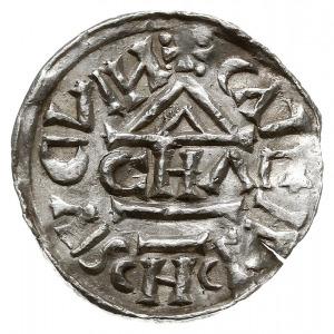 denar 1003, mincerz CHA, Aw: Dach kościoła, Rw: Krzyż z...