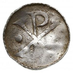 anonimowy denar ok. 1010, Aw: Chrystogram, Rw: CAE / IV...