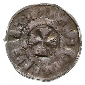 denar krzyżowy dewenterski, typ IV, Aw: Litera A i szel...