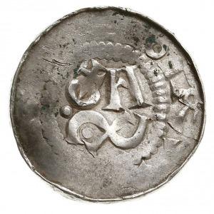 denar krzyżowy dewenterski, typ IV, Aw: Szeliga i liter...