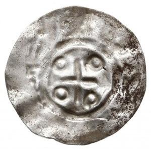 jednostronny denar typu REX, Krzyż prosty, w kątach 4 k...