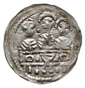 denar z lat 1157-1166, Aw: Popiersie księcia na wprost ...