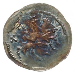 denar, po 1166 roku, Aw: Książę na koniu w prawo, trzym...