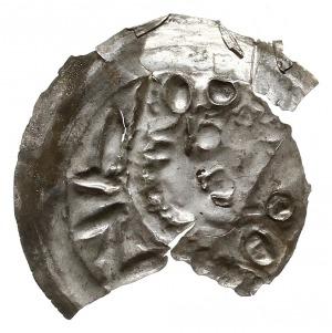 brakteat 1201-1241, mennica Wrocław, Głowa z najeżonymi...