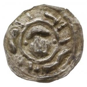brakteat 1201-1241, mennica Wrocław?, W obwódce głowa n...
