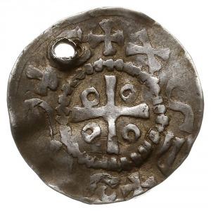 naśladownictwo denara saksońskiego Ottona III, Aw: Krzy...