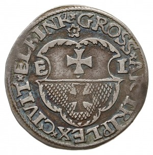 trojak 1536, Elbląg, odmiana z napisem ELBINK, Iger E.3...