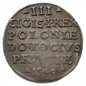 trojak 1540, Elbląg, na awersie końcówka ELBING, Iger E...