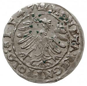 grosz 1547, Kraków, odmiana z literkami S-T pomiędzy he...