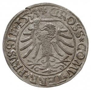 grosz 1533, Toruń, miecz trzymany w łapie po lewej stro...