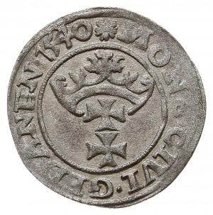 szeląg 1540, Gdańsk, CNG 54.IV.b ładnie zachowany