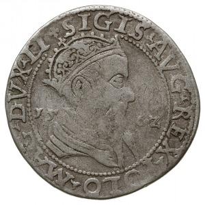 trojak 1562, Wilno, moneta z popiersiem króla, końcówki...