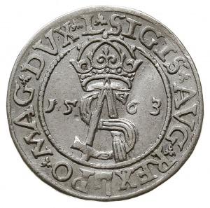 trojak 1563, Wilno, na awersie odmiana napisu SIGIS AVG...