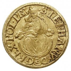 dukat 1586, Nagybanya, Aw: Madonna z Dzieciątkiem, napi...