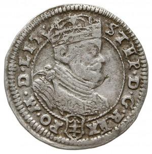 szóstak 1585, Wilno, na rewersie odmiana ze znakiem men...