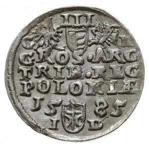 trojak 1585, Olkusz, odmiana z literą G obok Orła i lit...