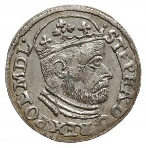 trojak 1586, Olkusz, odmiana z literą N obok Orła i lit...
