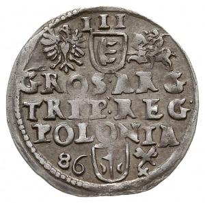 trojak hybrydalny 1586, Poznań, odmiana z datą po lewej...