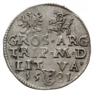 trojak 1581, Wilno, nominał III w owalnej obwódce pod p...