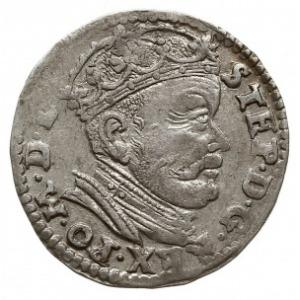 trojak 1585, Wilno, odmiana bez herbu podskarbiego na a...