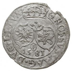 grosz 1581, Wilno, odmiana z końcówką napisu na awersie...