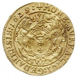 dukat 1629, Gdańsk, Aw: Popiersie króla w prawo i napis...