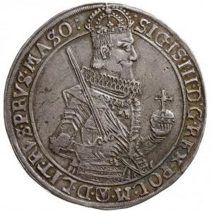 talar 1630, Bydgoszcz, Aw: Wąskie popiersie króla bez k...