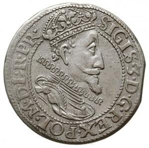 ort 1615, Gdańsk, odmiana z dużą głową króla, ozdobną t...