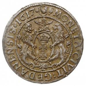 ort 1617, Gdańsk, z kropką na końcu napisu otokowego na...