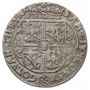 ort 1623, Bydgoszcz, ciekawa odmiana głowy króla, końcó...