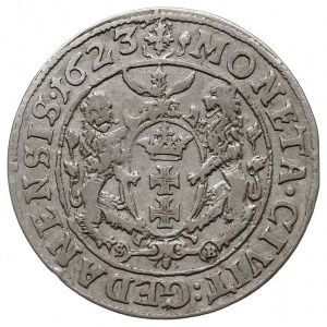 ort 1623, Gdańsk, odmiana z pełną datą na rewersie, Sha...