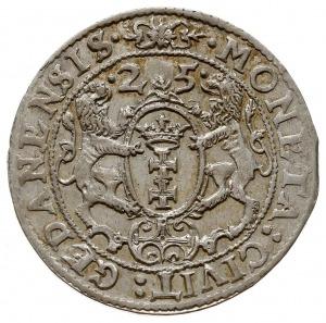 ort 1625, Gdańsk, odmiana z literami PR kończącącymi na...