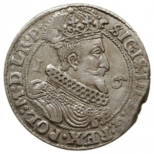 ort 1626, Gdańsk, rzadsza odmiana z literą P kończącą n...