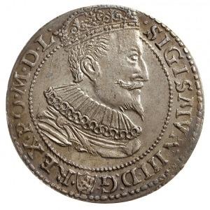 szóstak 1596, Malbork, odmiana z małą głową króla, bard...