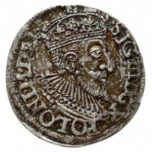 trojak 1593, Olkusz, nienotowany napis na końsu awersu ...